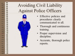Police Agencies & Civil Liability: An Ounce of Prevention