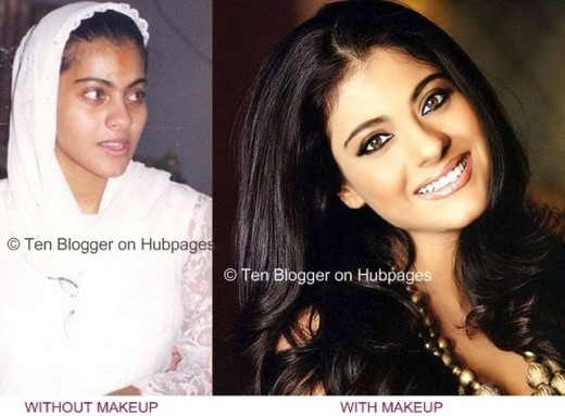 celebs with and without makeup. Kajol Without makeup