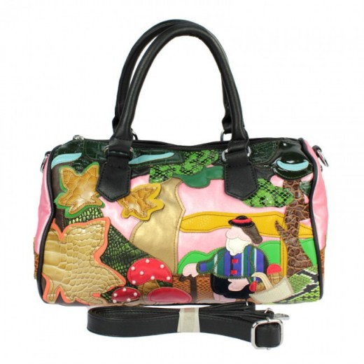 Edda Italian Design Outdoor Scene Black Handbag