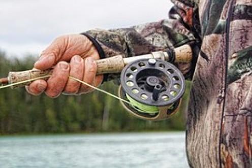Fly rod fishing.