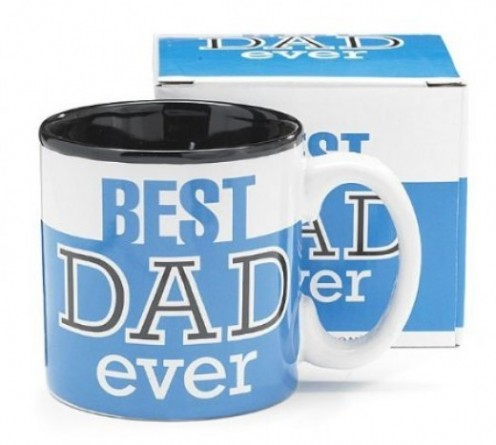 Best Dad Ever Blue 13Oz Coffee Mug Great for Fathers Day or Birthday