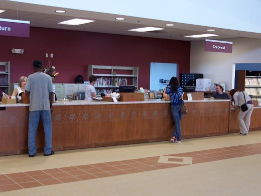 Book lovers can benefit working in either the campus library or the campus bookstore.
