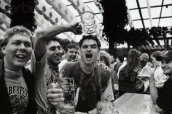 Wild partying at Oktoberbest  Munich Germany 1994.
