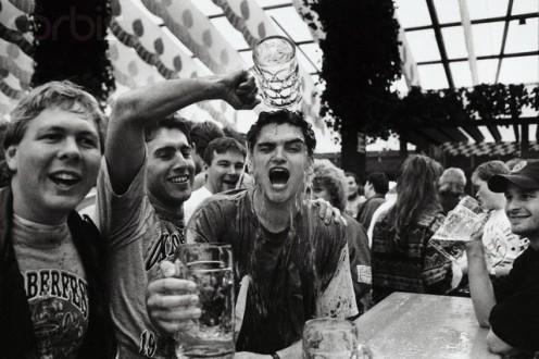 Wild partying at Oktoberbest  Munich Germany 1994.