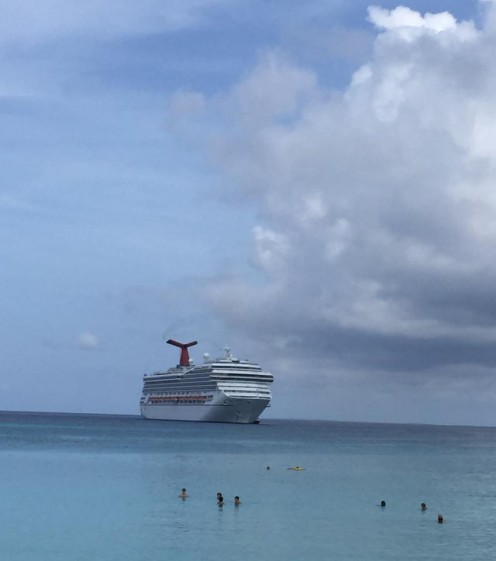 Carnival Conquest at Half Moon Cay Port 2015
