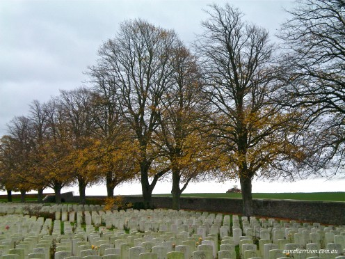 Just one of many cemetries from WWI