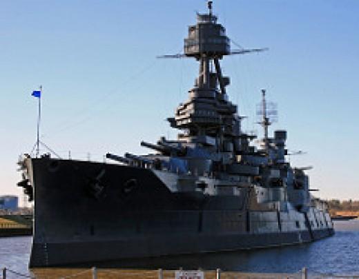 USS Texas port side