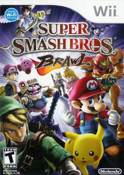 The North American Box Art for Super Smash Bros. Brawl. Now with expanded roster.