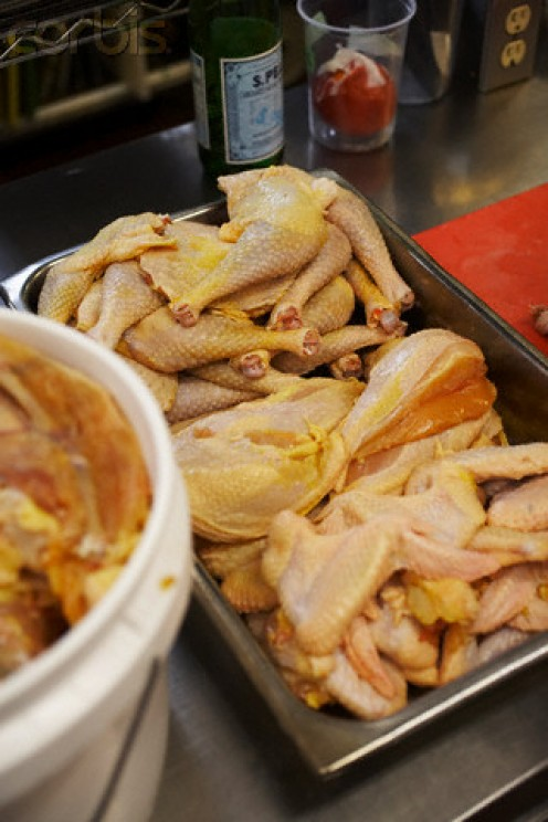 If a restaurant has raw chicken left out in room temperature, it is a great way to contract a severe case of food poisoning.