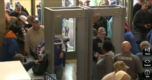 Fans go through the turnstiles at Miller Park in Milwaukee... but how OFTEN do they?