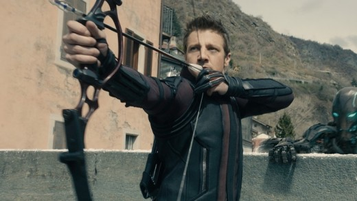 Hawkeye, played by Jeremy Renner