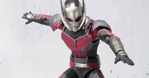A toy version of the Civil War Ant Man. Notice his new goofy looking antenna.