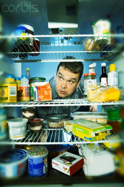 """Midnight Refrigerator Raid,"" is common for gluttons."