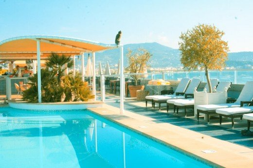 Resort in the south of France.