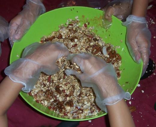 Making No-Bake Cookie Bars