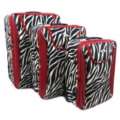 Zebra Print Luggage Sets for Women - Funky Luggage Sets to Make You a Trendsetter!