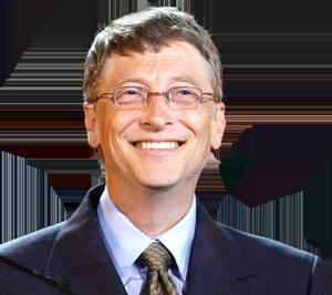 Gates smiling.