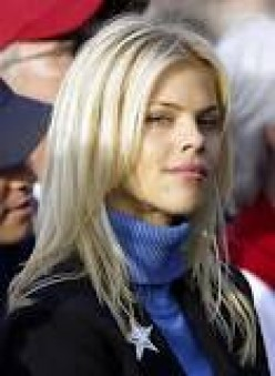 Elin Nordegren, Tiger Woods wife  from 2004 through  2010.