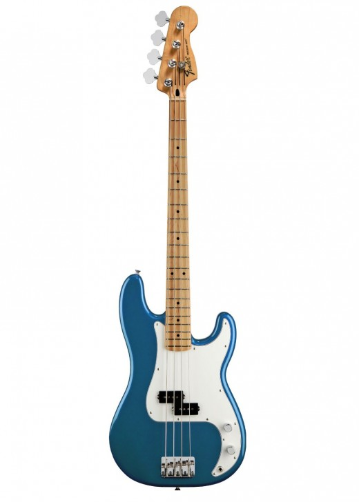 The Fender Standard Precision Bass in Lake Placid Blue