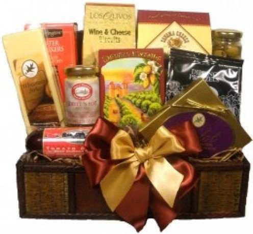 Delight Expressions® Treasured Snacks Gourmet Food Gift Basket - A Father's Day Gift Basket Idea