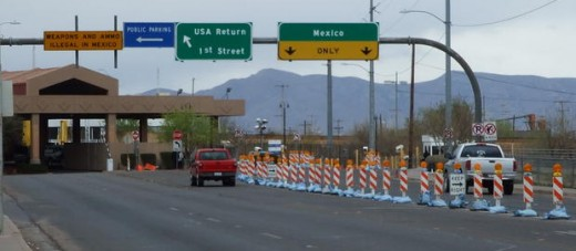The border between Douglas Az and Agua Prieta, Sonora