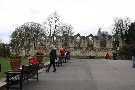 Ruins of St Mary's Abbey in York Museum Gardens