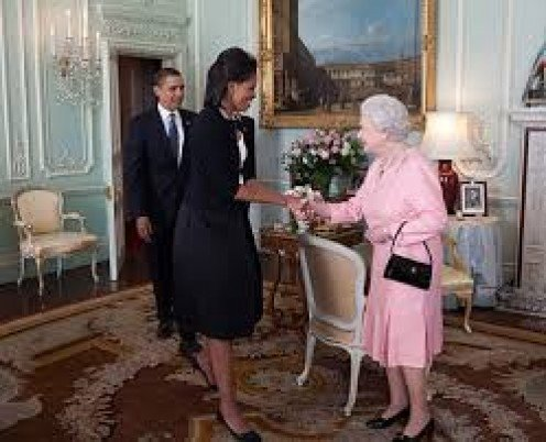 First Lady, Michelle Obama and Queen Elizabeth both know how to be introduced and to introduce.