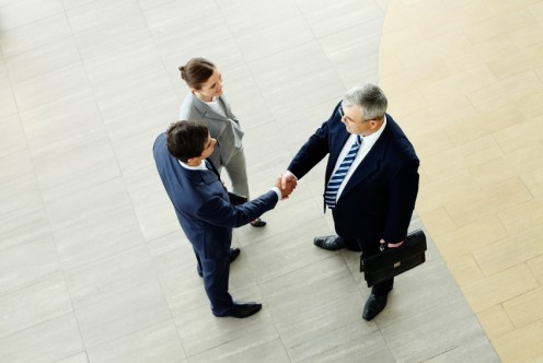 Many times a representative from a company has to introduce himself to other company employees.