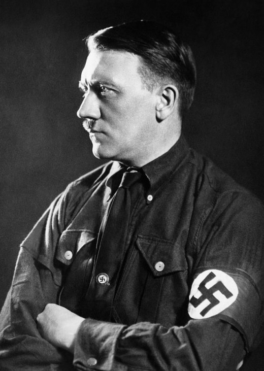 Hitler most definitely wanted to show himself as a tough, serious and threatening. This photo is a fine example of that.