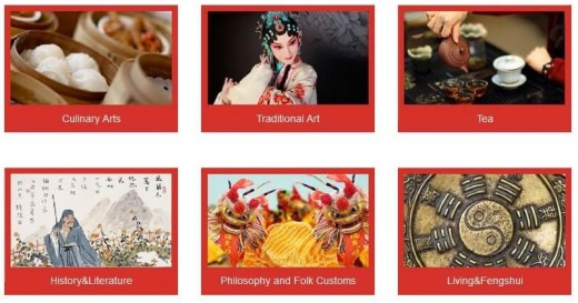 Hanbridge cultural courses include Culinary Arts, Tea, History & Literature, Philosophy & Folk Customs, Tradtional Arts, and Fengshui.