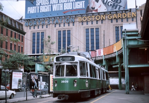 Boston Garden takes up one side of the building - it's where the Celtics and Bruins play.  The other side of the building is the busy train station.