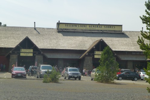 The gift shop at Yellowstone
