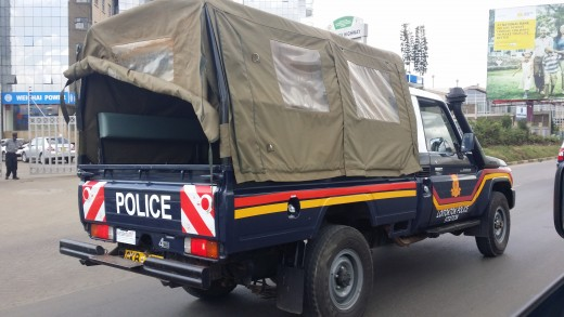 Kenya Police Vehicle