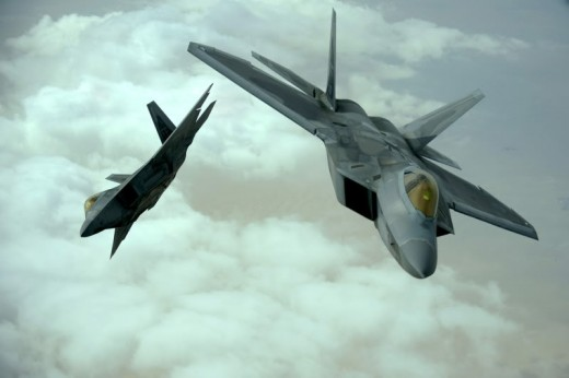 F22 Raptors flown to Romania to beef up defences against any Russian aggression.