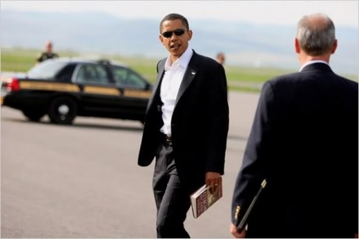 Obama currently touring Europe in last outing as President of the USA no doubt.