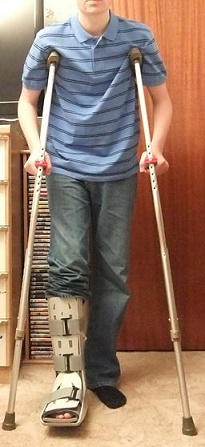 Walking with crutches may hinder some of a person's activities