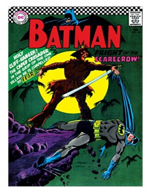 The cover to BATMAN (1st series)#189 (February 1967), which re-introduced the Scarecrow.