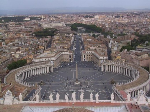 Vatican is a Holy place. It is the most important Holy place for Christians.