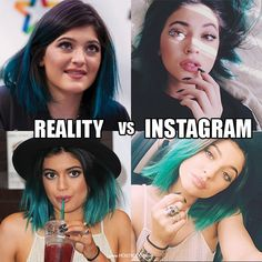 Perception of someone's filtered Instagram vs. Reality