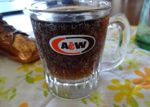 Frosty mug of root beer