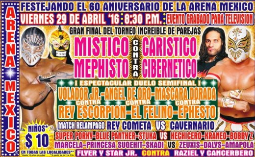 The 60th Anniversary of Arena Mexico card. Don't miss it!