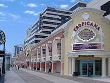 The Tropicana Casino on the Boardwalk in Atlantic city