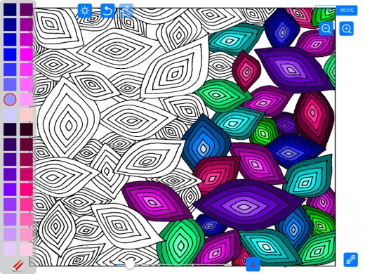 Coloring Advanced Tangles App: coloring for mindfulness