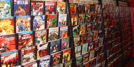 Comic books are usually lighter than graphic novels, and are one part of a larger story.