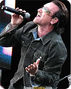 Bono from U2 a good friend of Prince.