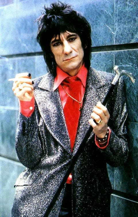 Ronnie Wood of the Rolling Stones also a good friend of the deceased musician.