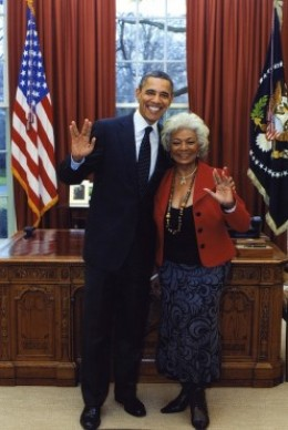 President Barack Obama and Actress-Producer Nichelle Nichols in 2012.