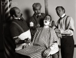 """In the 1800's, barbers would form quartets to sing when business was slow, and """"Barber Shop Quartets"""" were born"""