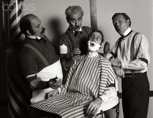 "In the 1800's, barbers would form quartets to sing when business was slow, and ""Barber Shop Quartets"" were born"