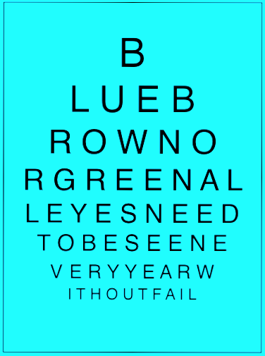 Blue, brown, or green, all eyes need to be seen every year!